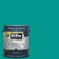 BEHR Premium Plus Ultra, 1-gal. #S-G-490 Intense Teal Satin Enamel Interior Paint, 775301 at The Home Depot - Tablet
