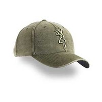 Browning 3D Buckmark Moss Washed Microsuede Hat