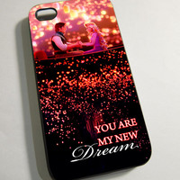 Disney Tangled You Are My New Dream - Print on Hardplastic for iPhone 4/4s and 5 case, Samsung Galaxy S3/S4 case.