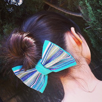 LIMITED EDITION Hair Bow - Hand Woven Jacquard Fabric