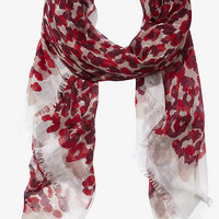OVERLAPPING LEOPARD PRINT QUAD SCARF from EXPRESS