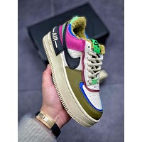Nike Air Force 1 Low Fur-Lined Shadow Woman Men Fashion Sneakers Sport Shoes
