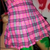 SWEET LORD O'MIGHTY! CHECKERED TENNIS SKIRT IN PINK