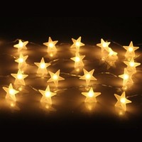 InnooTech Indoor String Lights Star Battery Operated 30 LED Warm White for Bedroom Outdoor Wedding Party Decoration