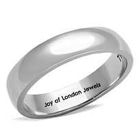 SALE   Men's or Women's Stainless Steel Wedding Bands Ring