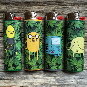 Adventure Time Characters & Weed Custom Lighter