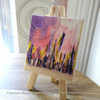 Mini Oil Painting Abstract Painting Original Oil Painting Small Painting Miniature Art Landscape Painting Fine Art Canvas Easel Serendipity