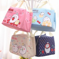ROSEDIARY Practical Portable Cartoon rabbit Waterproof Cooler Ice Bag Lunch Bag Leisure Picnic Packet Bento Box Food Thermal Bag