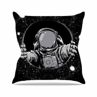 "digital carbine ""Black Hole"" Fantasy Digital Throw Pillow"