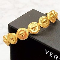 Versace Fashion New More Human Head Opening Bracelet Women Accessory