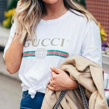 GG classic printed letter round neck short-sleeved T-shirt