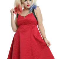 DC Comics Suicide Squad Harley Quinn Red Dress Plus Size