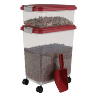IRIS Airtight Pet Food Storage Combo with Scoop