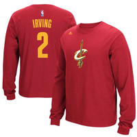 Kyrie Irving Cleveland Cavaliers adidas Name & Number Long Sleeve T-Shirt – Wine