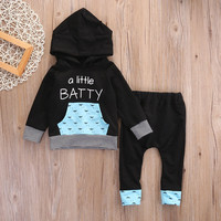 2 Pcs set Toddler Newborn Kids Baby Girl Boy Clothes Little Hooded Tops Cotton Long Pants Clothing Girls Outfits