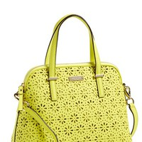 kate spade new york 'cedar street - maise' perforated leather satchel
