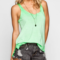 Fox Illusion Womens Tank Mint  In Sizes