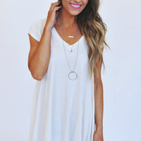 Asymmetrical V Neck Tunic- Ivory
