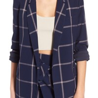 Leith Woven Relaxed Fit Blazer | Nordstrom