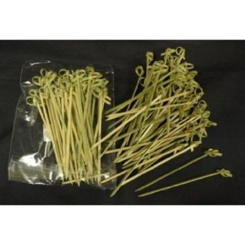Happy Sales Bamboo Skewers 4 Inch Twisted ends 50 pcs