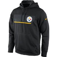 Pittsburgh Steelers Nike Performance Therma-FIT Chainmaille Black Hoodie - Official Online Store