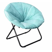 Mainstays Plush Saucer Chair, Multiple Colors - Walmart.com
