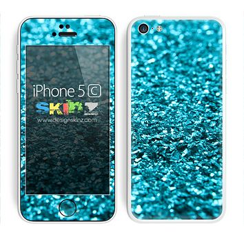Glimmer Turquoise Unfocused Skin For The iPhone 5c