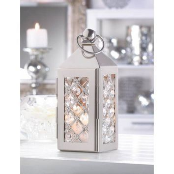 Small Elegant Crystal Decorative Candle Lantern