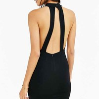 Silence + Noise Ponte High-Neck Open-Back Bodycon