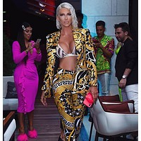 Versace Popular Women Jacket Pants Two-Piece