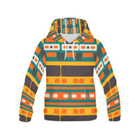 Rectangles in retro colors texture All Over Print Hoodie for Men (USA Size) (Model H13) | ID: D1438697
