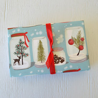 1 roll HOLIDAY JARS fine paper, 27x39 inches, Christmas wrapping paper, holiday packaging
