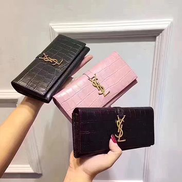 YSL SAINT LAURENT WOMEN'S NEW STYLE LEATHER WALLET
