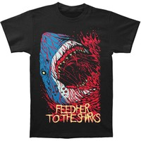 Feed Her To The Sharks Men's  Bite T-shirt Black