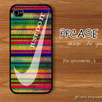 Nike JUST DO IT For You : Handmade Case for Iphone 4/4s , Iphone 5 Case Iphone