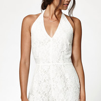 Kendall and Kylie Lace Halter Romper at PacSun.com