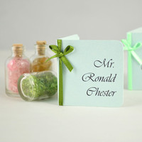 Wedding Table Settings - Wedding Escort Card - Formal Place Card - Wedding Place Name Card -  Mint Green Place Card