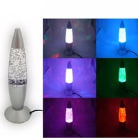 USB Multi Color Changing Lava Lamp LED Glitter Party Mood Night Light for Indoor Christmas lamparas ,2016 new Gift
