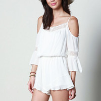 OFF SHOULDER RUFFLE ROMPER