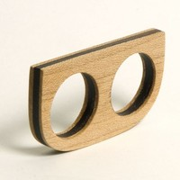 Double Finger Wood Ring
