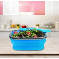 3 Color Collapsible Bento Lunch Picnic Food Container Storage Boxes Silicone Foldable Outdoor Portable Lunchbox Bowl