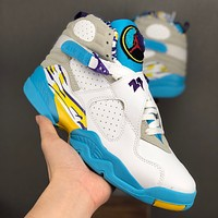 "Air Jordan 8 ""White Aqua"" Retro Sneaker - Best Deal Online"