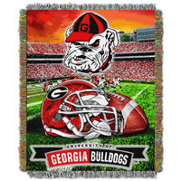 Georgia Bulldogs NCAA Woven Tapestry Throw (Home Field Advantage) (48x60)
