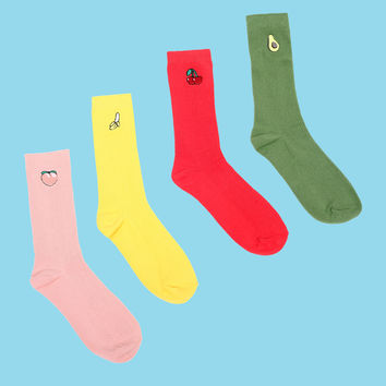 Fruit Sock 4-Pack