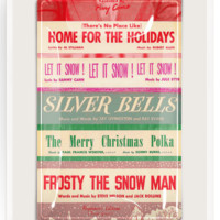 Christmas Sing Along Glass Decoupage Tray