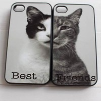 Black and White Cat and Tabby Cat Best Friend Cases