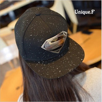 Fashion unisex Plain Baseball Caps,superman batman logo Hip-hop Cotton Peaked hat,casual outdoor travel snapback sunhat