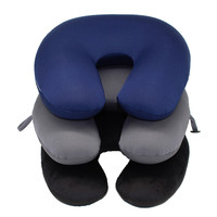 Microbeads U Shape neck Pillow Airplane travel pillows with wire massager with button kissen memory foam body pillow