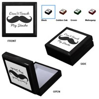 Small Tile Gift Box - Don't Touch My Stache from Zazzle.com
