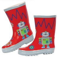 Stephen Joseph Little Boys' Boy's Rain Boots, Robot, 12